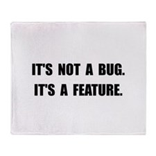 Bug Feature Throw Blanket