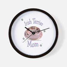 Irish Terrier Mom Wall Clock