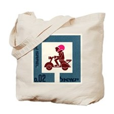 1966 Israel Scooter Motorcycle Postage Stamp Tote
