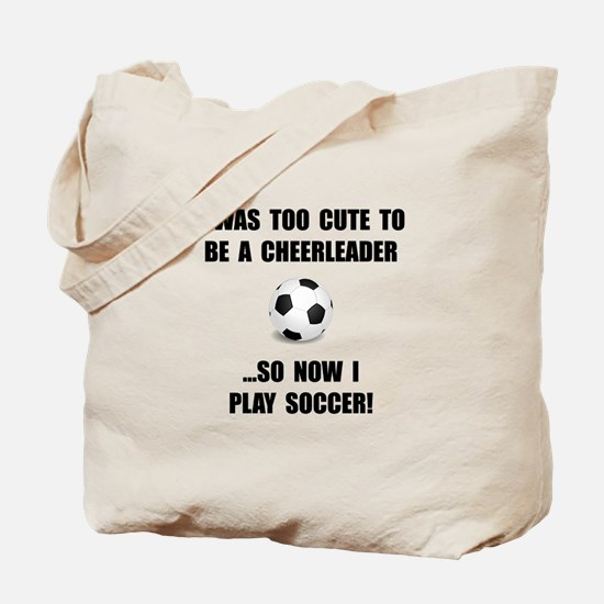 Cheerleader Soccer Tote Bag