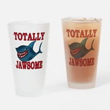 Totally Jawsome Shark Drinking Glass