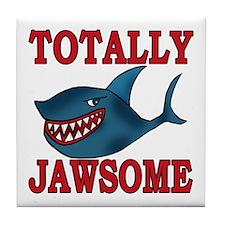 Totally Jawsome Shark Tile Coaster
