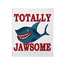 Totally Jawsome Shark Throw Blanket