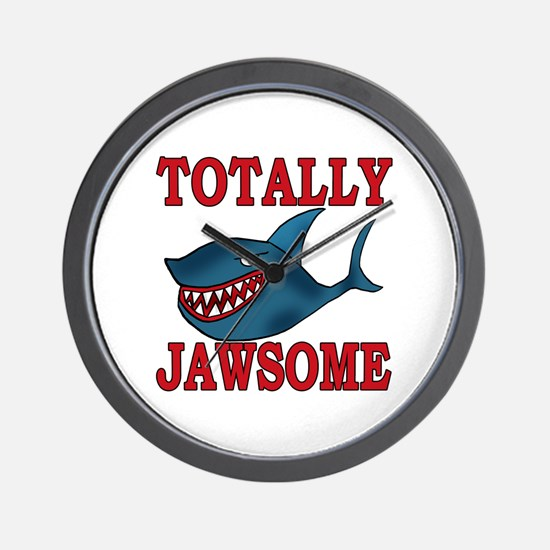 Totally Jawsome Shark Wall Clock
