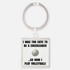 Cheerleader Volleyball Keychains
