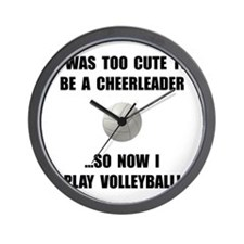 Cheerleader Volleyball Wall Clock