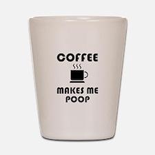 Coffee Poop Shot Glass
