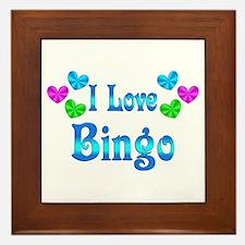 I Love Bingo Framed Tile