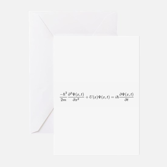 Schroedinger Equation Greeting Cards (Pk of 10