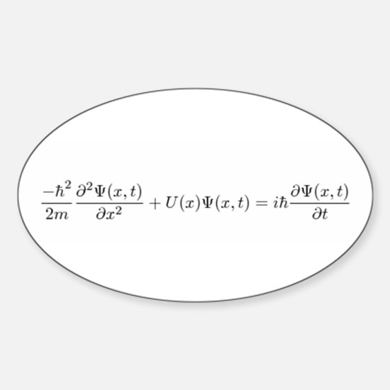 Schroedinger Equation Oval Decal