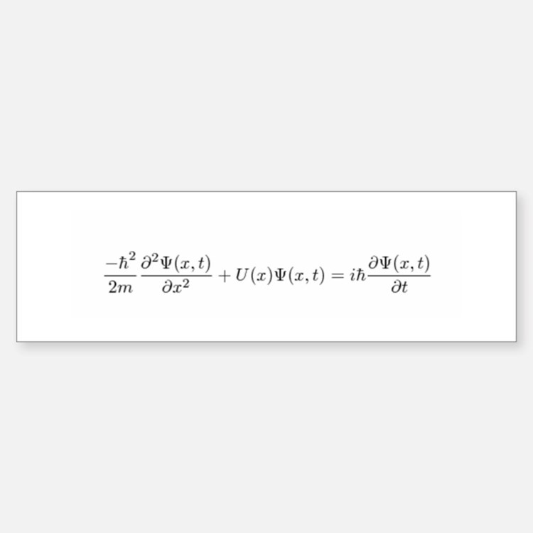 Schroedinger Equation Bumper Bumper Bumper Sticker