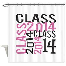 PINK Mosaic Class 2014 Shower Curtain