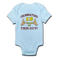 Funny 18th Birthday For Boys Onesie