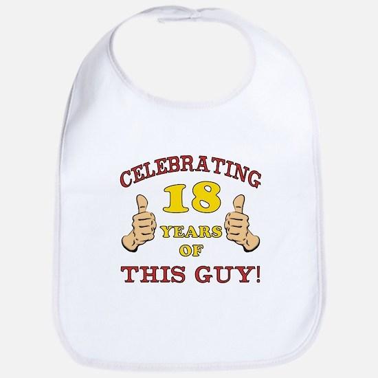 Funny 18th Birthday For Boys Bib