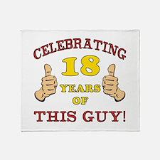Funny 18th Birthday For Boys Throw Blanket