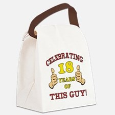 Funny 18th Birthday For Boys Canvas Lunch Bag