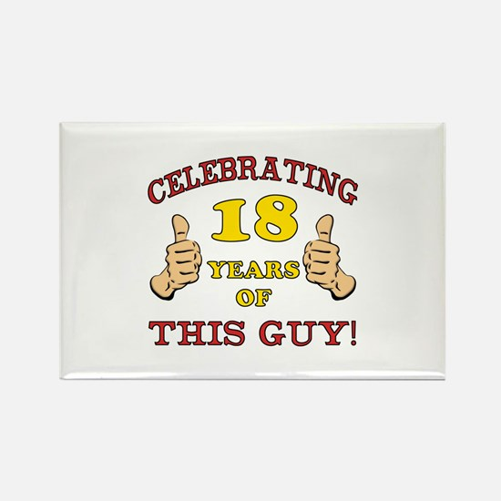 Funny 18th Birthday For Boys Rectangle Magnet
