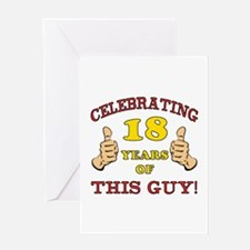Funny 18th Birthday For Boys Greeting Card