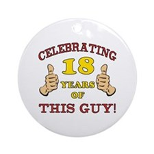 Funny 18th Birthday For Boys Ornament (Round)