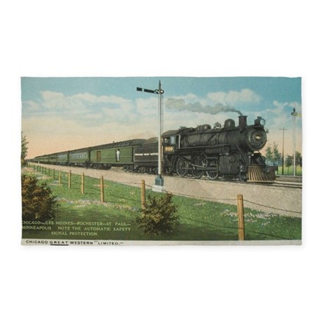 Chicago Great Western 1910 3'x5' Area Rug