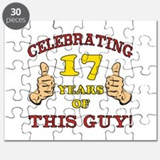 Funny 17th Birthday For Boys Puzzle