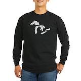 Michigan Long Sleeve T-shirts (Dark)
