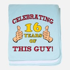 Funny 16th Birthday For Boys baby blanket