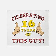Funny 16th Birthday For Boys Throw Blanket