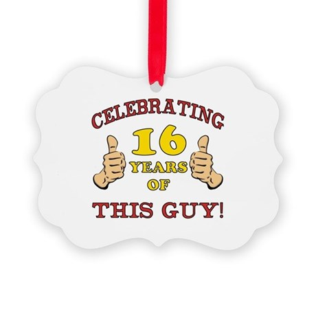 Funny 16th Birthday For Boys Picture Ornament