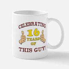 Funny 16th Birthday For Boys Small Small Mug