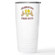 Funny 16th Birthday For Boys Thermos Mug