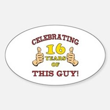 Funny 16th Birthday For Boys Decal