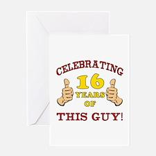 Funny 16th Birthday For Boys Greeting Card