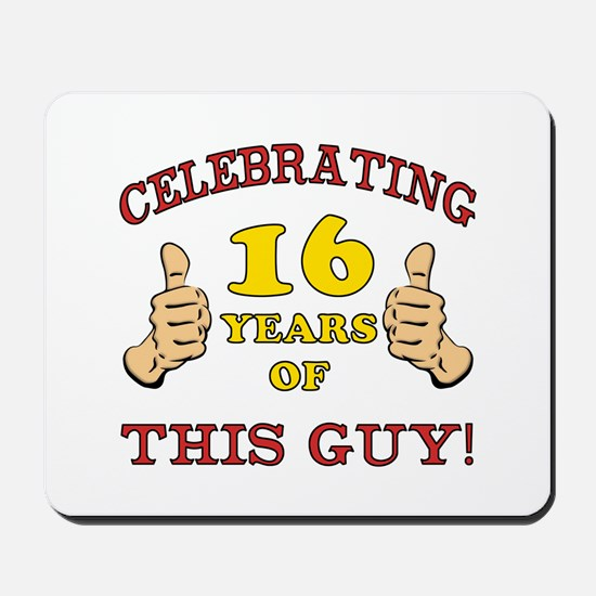 Funny 16th Birthday For Boys Mousepad
