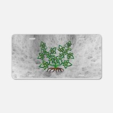Ivy Aluminum License Plate