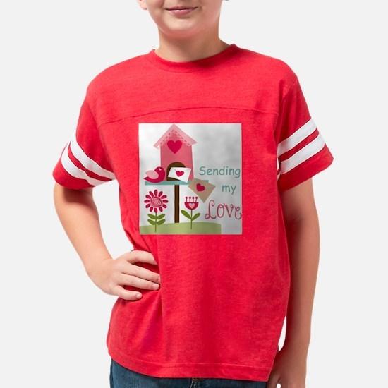 SENDING MY LOVE Youth Football Shirt