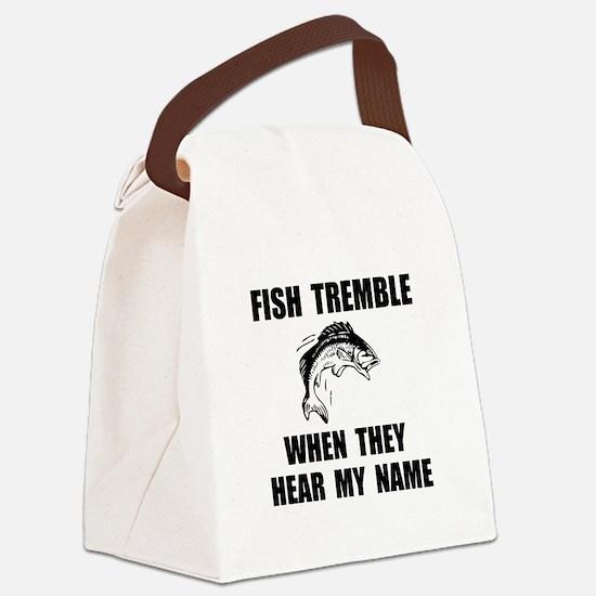 Fish Tremble Canvas Lunch Bag