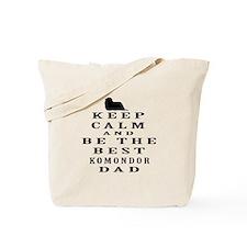 Komondor Dad Designs Tote Bag