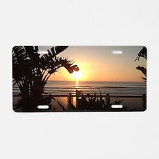 Ocean Sun Set Aluminum License Plate