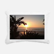 Ocean Sun Set Rectangular Canvas Pillow