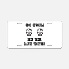 Good Cowgirls Aluminum License Plate