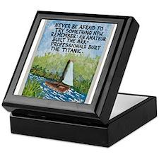 The Ark vs The Titanic / Sculpted Art Keepsake Box