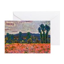 Monet - Poppy Field Greeting Card