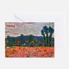 Monet - Poppy Field Greeting Card