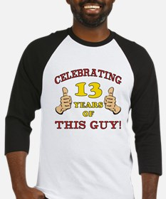 Funny 13th Birthday For Boys Baseball Jersey
