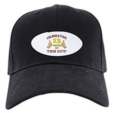 Funny 13th Birthday For Boys Baseball Hat