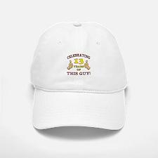 Funny 13th Birthday For Boys Baseball Baseball Cap