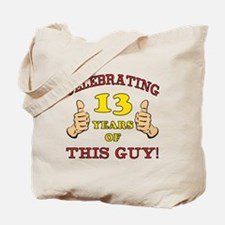 Funny 13th Birthday For Boys Tote Bag