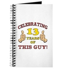 Funny 13th Birthday For Boys Journal