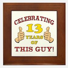 Funny 13th Birthday For Boys Framed Tile